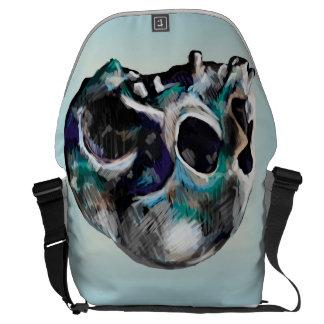 Colorful Skull Illustration Messenger Bag