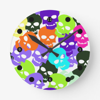 Colorful Skulls Clocks