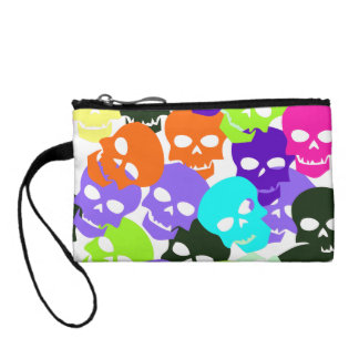 Colorful Skulls Coin Purse