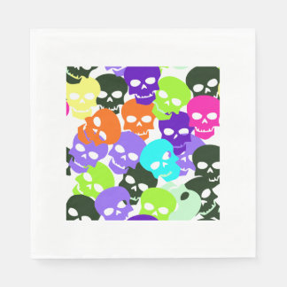 Colorful Skulls Disposable Napkin