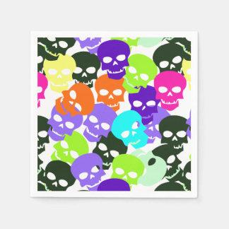 Colorful Skulls Disposable Napkins