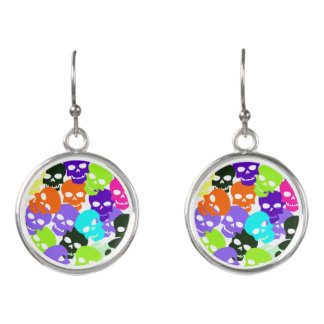 Colorful Skulls Earrings