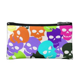 Colorful Skulls Makeup Bag