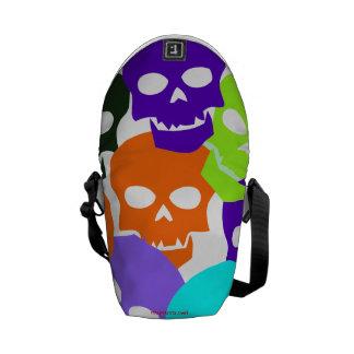 Colorful Skulls Messenger Bag
