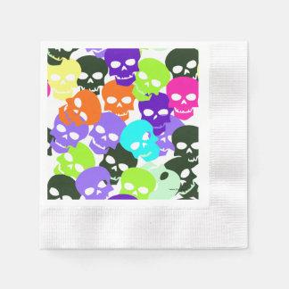 Colorful Skulls Paper Napkins