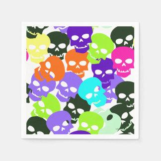 Colorful Skulls Paper Serviettes