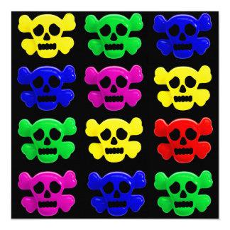 Colorful skulls pattern card