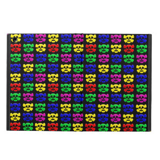 Colorful skulls pattern cover for iPad air