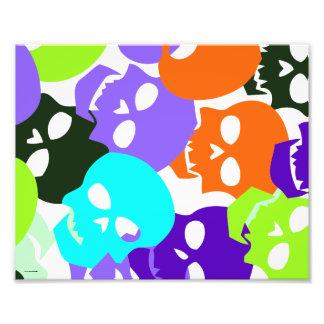 Colorful Skulls Photo Art