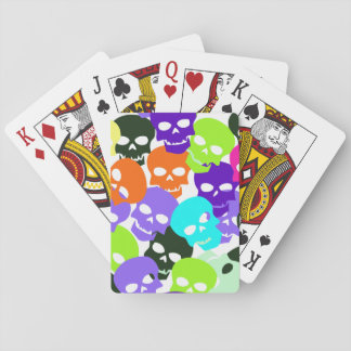 Colorful Skulls Playing Cards