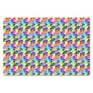 Colorful Skulls Tissue Paper