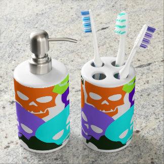 Colorful Skulls Toothbrush Holder