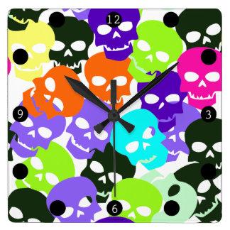 Colorful Skulls Wall Clocks