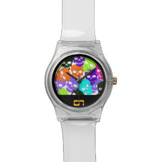 Colorful Skulls Watch