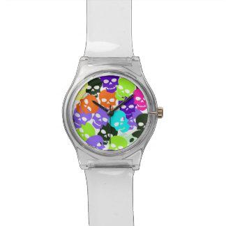 Colorful Skulls Wrist Watch