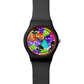 Colorful Skulls Wrist Watches
