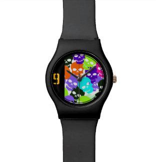 Colorful Skulls Wristwatch