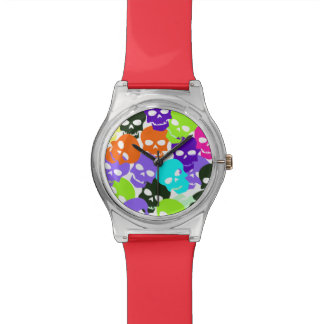Colorful Skulls Wristwatches