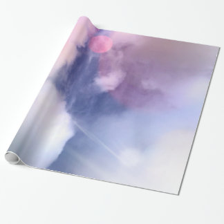 "Colorful Sky Glossy Wrapping Paper, 30"" x 6'"