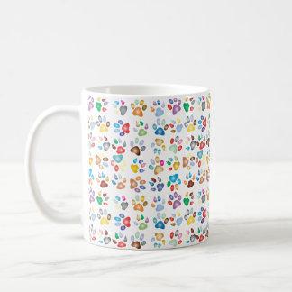 Colorful Small Paws Cat Paw Print Mug
