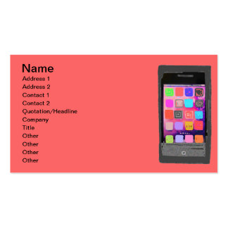 Colorful Smart Phone Pack Of Standard Business Cards