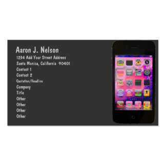 Colorful Smart Phone Personal Pack Of Standard Business Cards