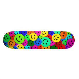 COLORFUL SMILEY FACES COLLAGE SKATE BOARD DECKS