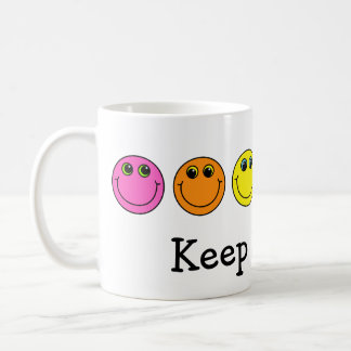 Colorful Smiley Faces Keep Smiling Coffee Mug