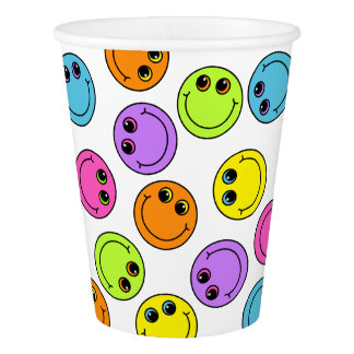 Colorful Smiley Faces Party Paper Cup