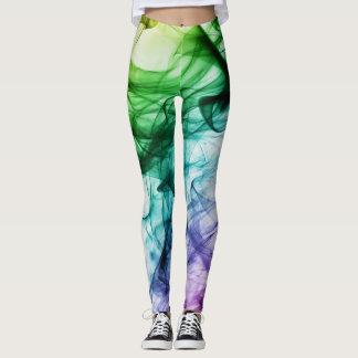 Colorful Smoke Art Design Leggings