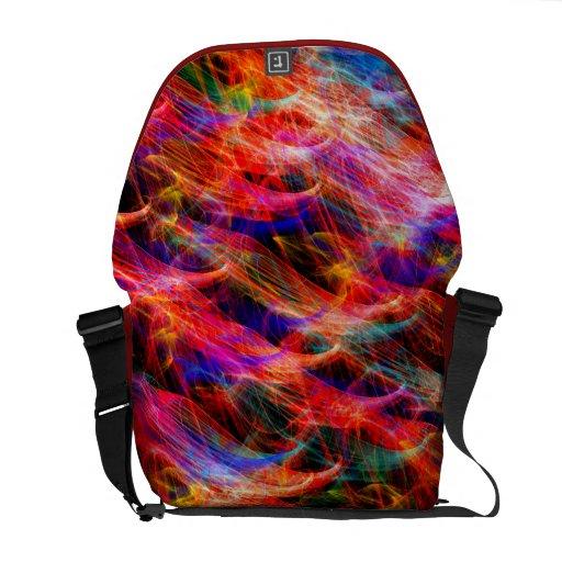 Colorful smoke design Rickshaw Messenger Bag