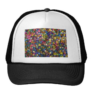 Colorful Smooth and Shiny Pebbles Rocks Cap