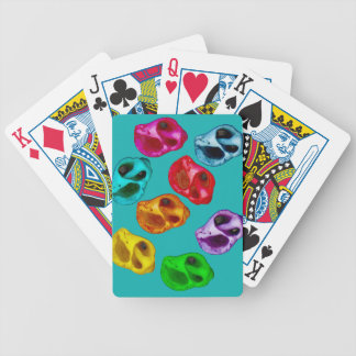 Colorful snails bicycle playing cards