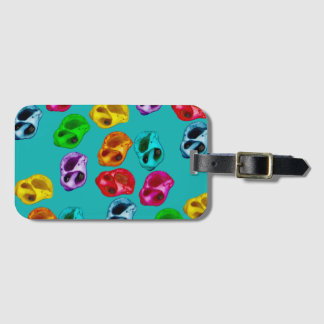Colorful snails luggage tag