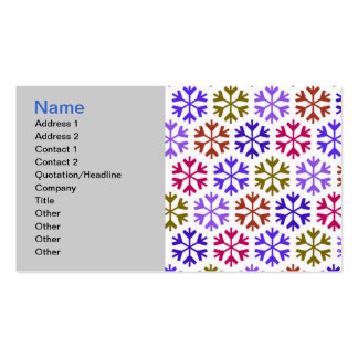 Colorful Snow Flake Pattern Business Card