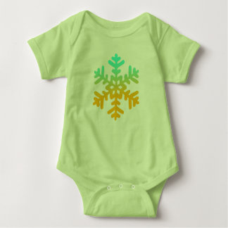 Colorful Snowflake Baby Jersey Baby Bodysuit