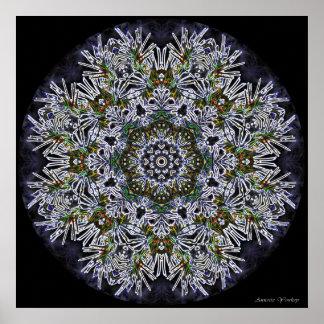 Colorful Snowflake Mandala Poster