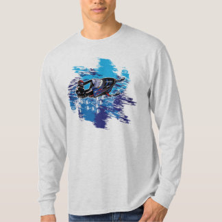 Colorful Snowmobiler - Catching a Big Snow Drift T-Shirt