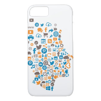 Colorful Social Icon Case with Social Icons