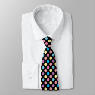 Colorful Soft Pastel Colors Polka Dots Pattern Tie