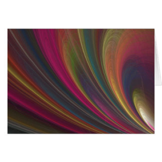 Colorful Soft Sand Waves Card