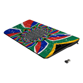 Colorful South Africa National Flag Colors gaming Wireless Keyboard