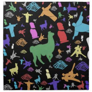 Colorful South America Printed Napkins