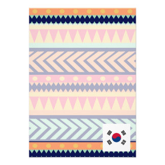 Colorful South Korea Flag Box 13 Cm X 18 Cm Invitation Card