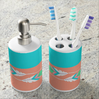 Colorful Southwestern Feathers Bathroom Sink Set