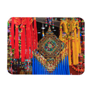 Colorful souvenirs in a shop, China Rectangular Photo Magnet