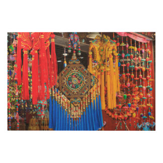 Colorful souvenirs in a shop, China Wood Wall Art