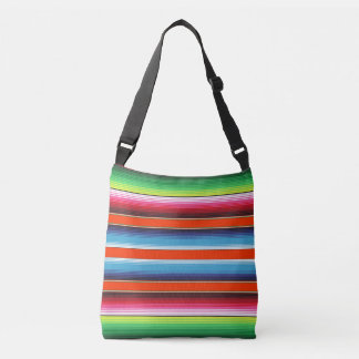Colorful Spanish Serape Fiesta Mexican Blanket Crossbody Bag