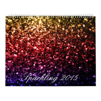 Colorful Sparkles Custom Printed Calendar 2016