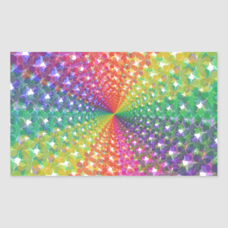 Colorful spectral background rectangular sticker